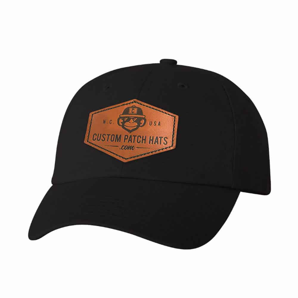 Custom Leather Patch Dad Hats