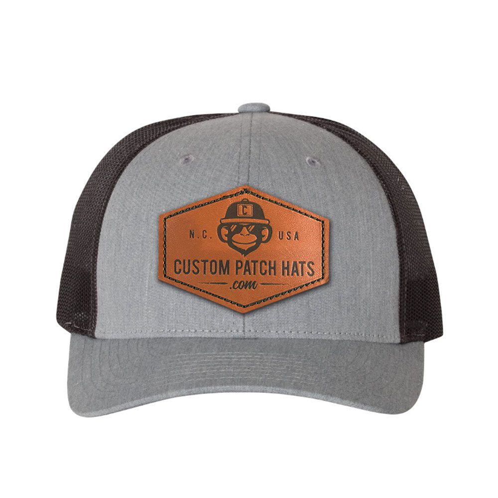 Custom Low Profile Trucker Leather Patch Hat