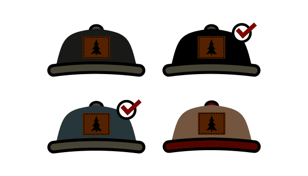 custom hat choice icon