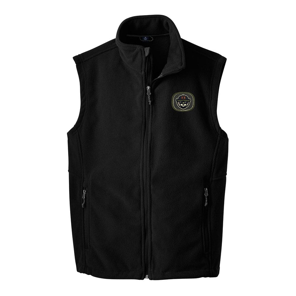 Custom Embroidered Fleece Vest With Patch