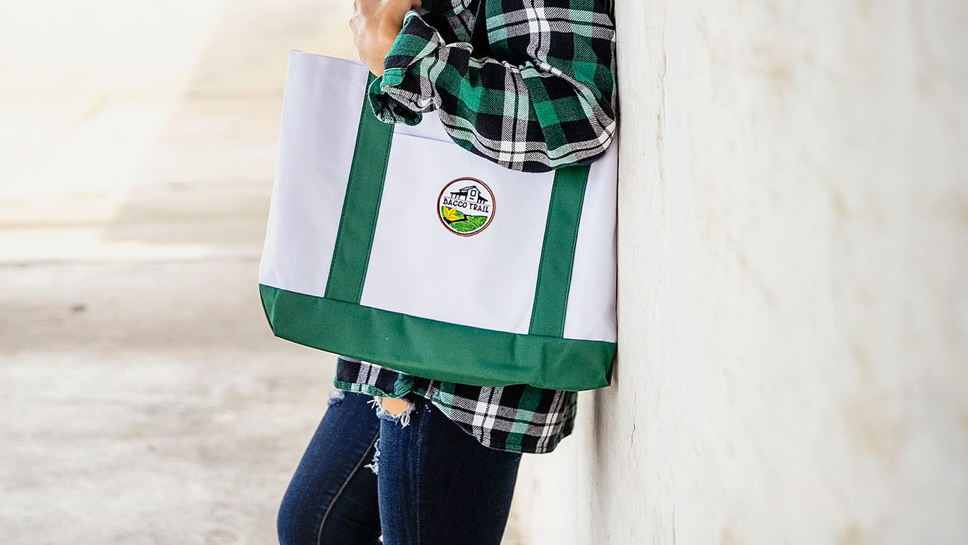 Custom Embroidered Tote Patch Bag