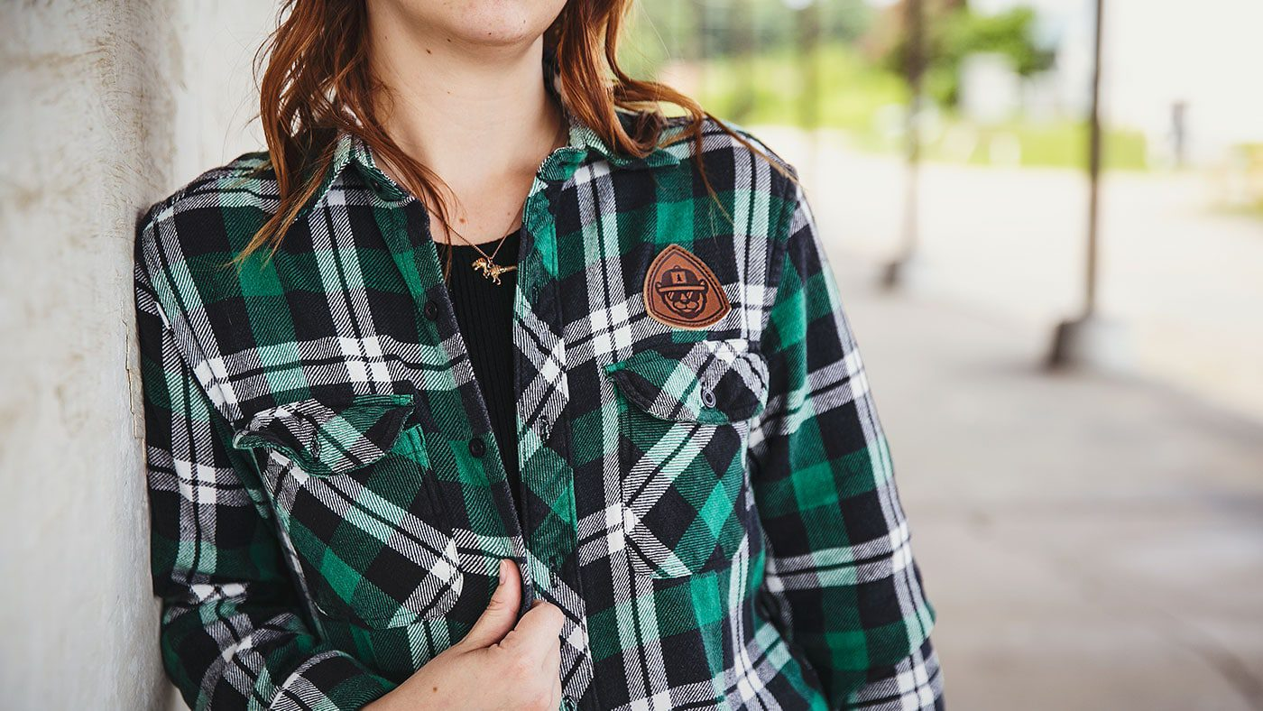 Custom Flannel Shirt With Patch