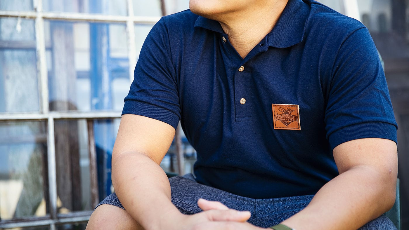 Polo Shirts With Custom Leather Patches
