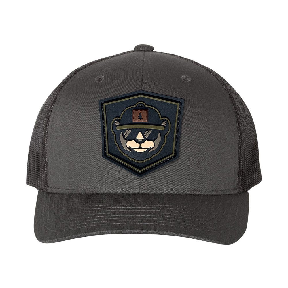 Custom Trucker Hat With Rubber Patches