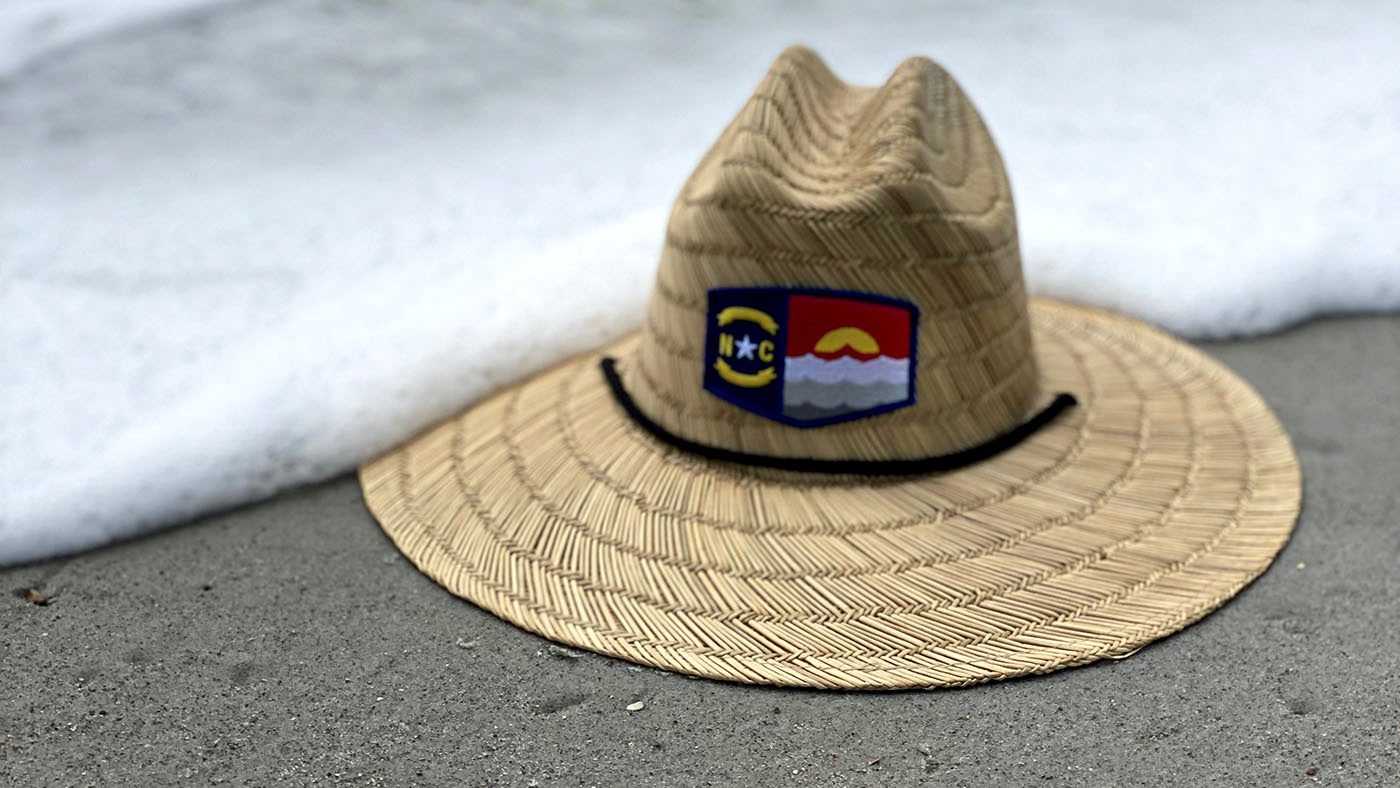 Custom Straw Lifeguard Patch Hat