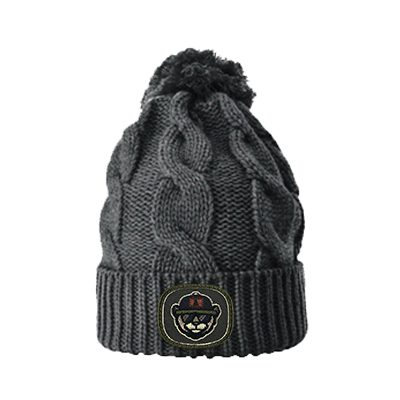 R141 Beanie Heather Charcoal Patch