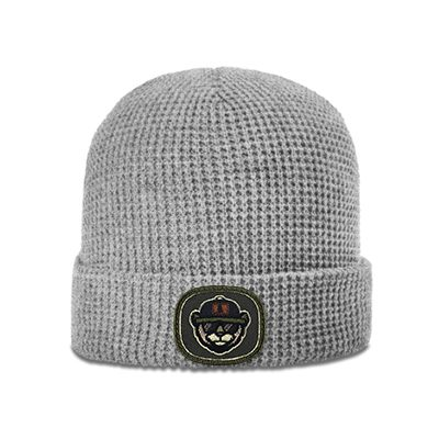 Richardson Waffle Beanie 146 Heather Grey Patch
