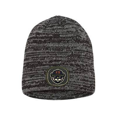 Sportsman 8 Marled Knit Beanie SP03 Grey:charcoal Patch